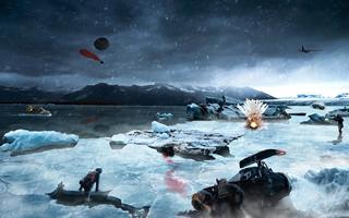 玩家自制《绝地求生》雪地地图 美翻了还有极光呢