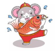 鼠年卡通可爱头像
