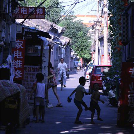 复古老街风景背景图